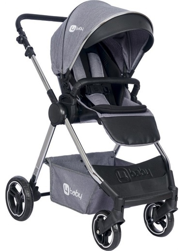 4 Baby Bagi Krom Travel Sistem Bebek Arabası Ab474 Four Baby Gri